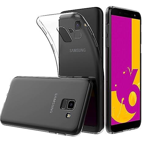 Peakally Funda Samsung Galaxy J6 2018, Transparente Silicona Funda para Samsung Galaxy J6 2018 Carcasa Flexible Claro Ligero TPU Fundas ...