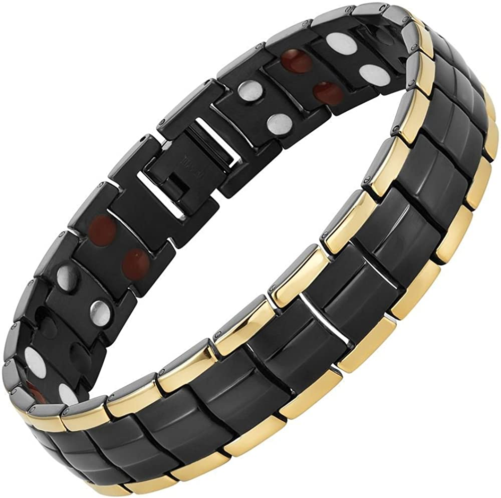 Willis Judd Extra Strong Magnetic Titanium Bracelet Size Adjusting Tool & Gift Box Included