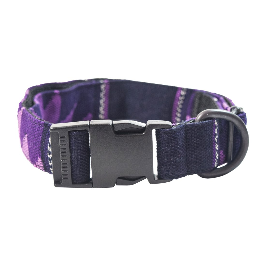 Hide & Drink Dog Collar for Small Medium Dogs (14.5-24.5 Inches) Handmade purple Comalapa