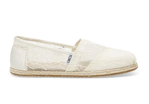 1e2af6cfc Toms Women's Classic White Lace Rope Alpargata Slip-On 10005785: Amazon.ca:  Shoes & Handbags