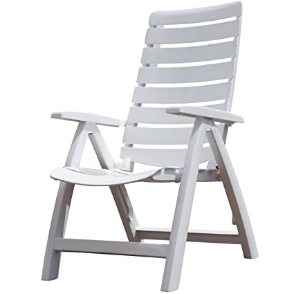 Bon Kettler Rimini High Back Chair, White, Resin
