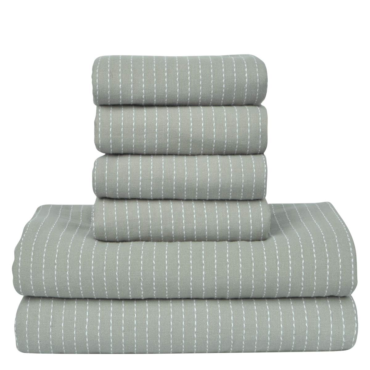 SEMARO Towel Set Hotel & Spa 6 pack Bath Towel Super Soft and Highly Absorbent 100% Cotton (Pale-green) by SEMARO