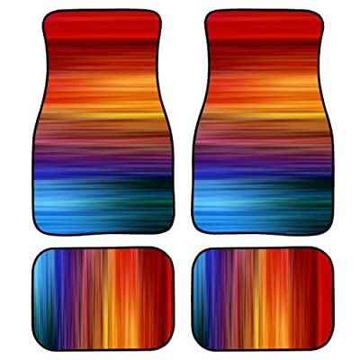 chaqlin Rainbow Color Automotive Floor Mats Black Custom Car Mats All Weather Travel Vehicle Protector Fit Most Car,Truck,SUV,Van: Automotive