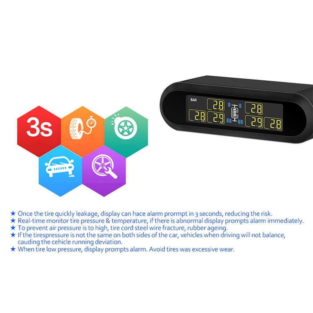 Wpond TPMS Syst/ème de Surveillance de la Pression des pneus Super LCD Universel pour 6 Roues Bus Van avec 6 capteurs