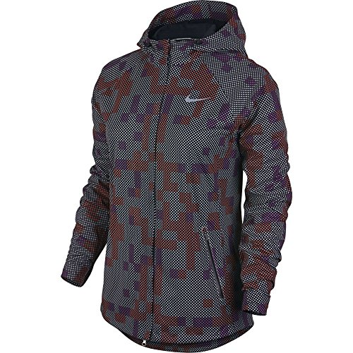 NIKE women's flash allover running jacket NEW! 2016 size LARGE reflective by NIKE