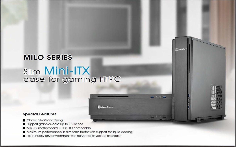SilverStone SST-ML07B - Cabinet Milo per Slim HTPC formato Mini-ITX , nero Nero