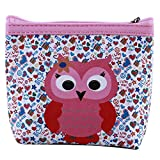 LZIYAN Cute Coin Purse Cartoon Owl Pattern Coin Purse Clutch Bag Portable Small Wallet With Zipper Storage Bag Creative Gift For Women,4#
