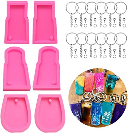 Silicone Resin Mold Tumbler Cup Keychain Pendant Epoxy Resin Jewelry Making Tool