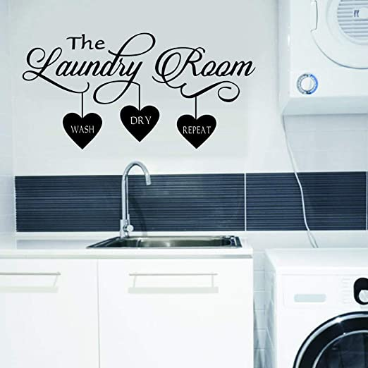 Amazon Com Wovtcp Laundry Wall Decal Laundry Room Decor Laundry Room Vinyl Wall Art Laundry Vinyl Lettering Vinyl Wall Quotes Kitchen Dining