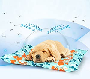 MEIQI Cooling Pet Mat/Pad -Activated Cool Gel Technology - Help Your Dog Stay Cool - Prevent Overheating and Dehydration - Ideal for Home and Travel