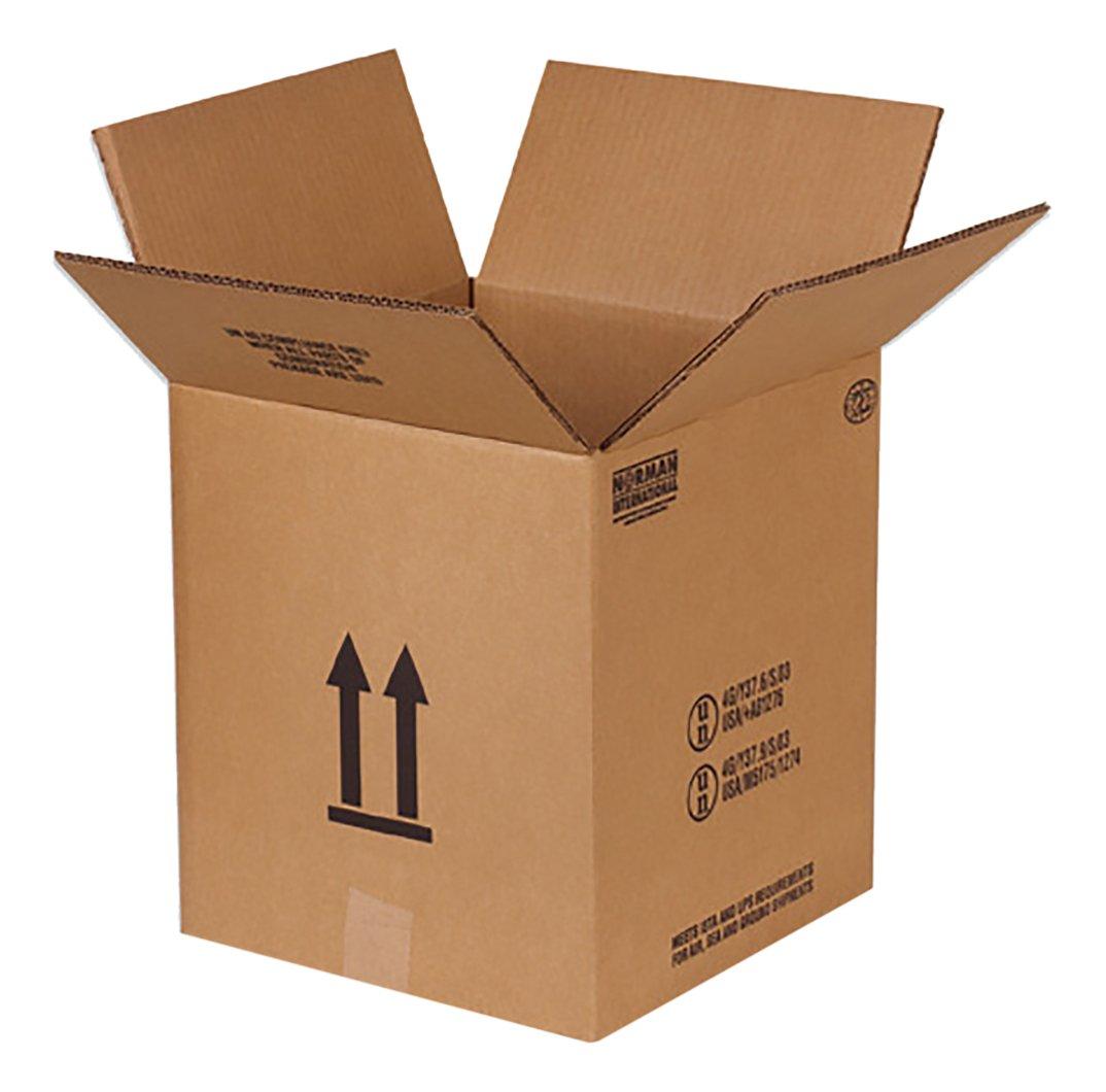 RetailSource B121213HM160 Hazmat Box, 13.5625'' Height, 12.125'' Width, 12.125'' Length, Brown (Pack of 160)