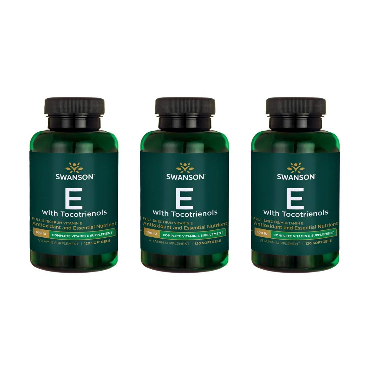 Swanson Vitamin E with Tocotrienols - Full Spectrum 120 Sgels 3 Pack