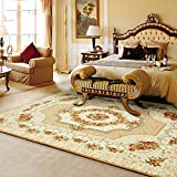 European floral carpet European style Simple Tea table Sofa non-slip mat Rectangular bed bedroom blanket-B 200x240cm(79x94inch)
