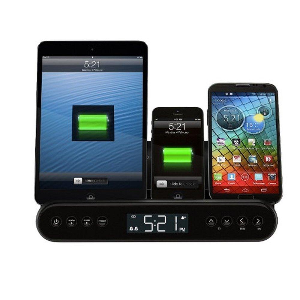 CR220 Black Capello Clock Radio and Universal Charging Stand