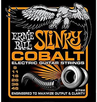 Ernie Ball Slinky Cobalto 2722 larga duración cuerdas para guitarra eléctrica (2 paquetes): Amazon.es: Instrumentos musicales