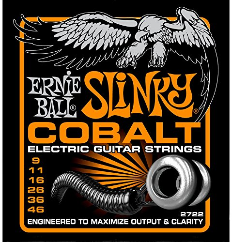 Ernie Ball 2722 Cobalt Hybrid Slinky Electric Guitar Strings Set - 2 PACK(9 - 46) ()