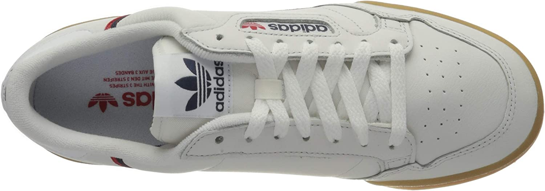 Adidas Herren Continental 80 Sneaker, Bianco Crystal White Collegiate Navy Scarlet