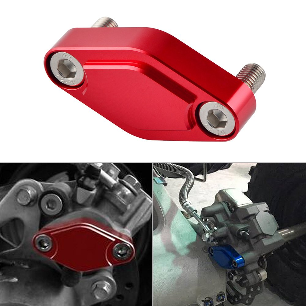 NICECNC Red CNC ATV Parking Brake Block Off Plate for Raptor 125,250,350,660,700,YFZ450/450R/X,Warrior 350,Banshee 350,TRX 450R/400EX/300EX,LTZ 400/LTR 450,KFX 400/450