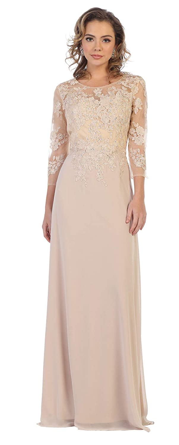 Formal Dress Shops Inc FDS1637 Mother of The Bride Embroidered Gown