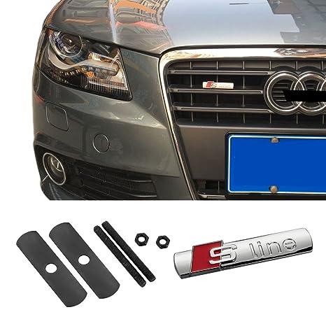 cogeek rejilla frontal Grill S-Line Sport Badge para TT RS A4 A6 A8 Q3