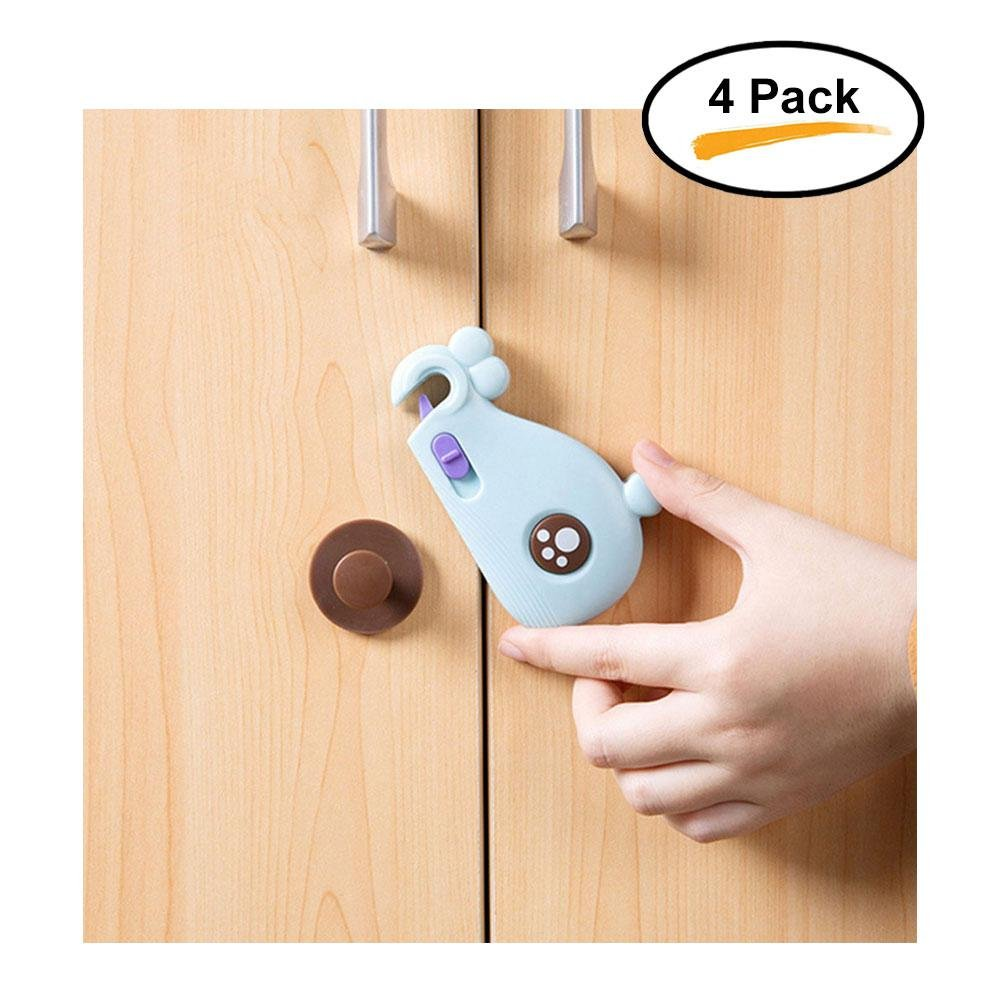 Aolvo Child Safety Locks Cupboard, Kitchen Cabinet Locks for Adults Babies Kids Cabinet Door Cupboard Cabinet Seat Drawer Fridge Drawer Oven Refrigerator -Baby Safety Locks with Adhesive Tape