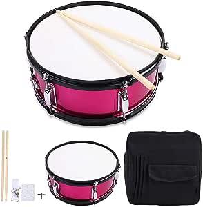 Juego de batería de percusión Caja de batería y llave de batería(Rosa roja): Amazon.es: Hogar