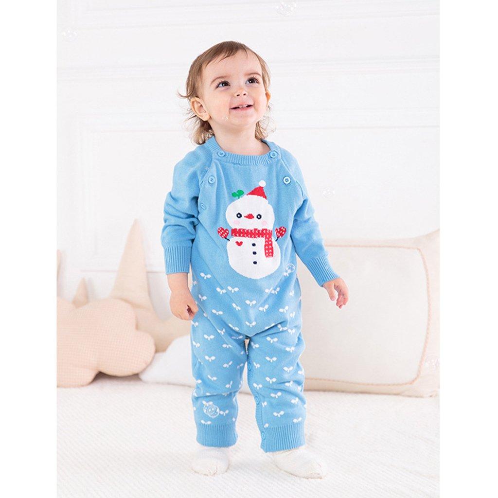 Minizone Baby Strick Strampler Overalls Lange /Ärmel Warme Pullover S/äugling Outfits