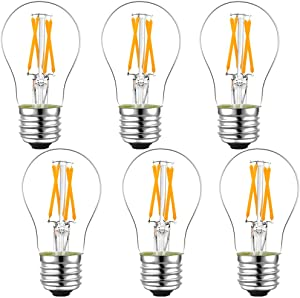 LiteHistory Dimmable E26 led Bulb 6W Equal 60 watt Vintage LED Edison Bulb AC120V 2700K A15 LED Bulb for Ceiling Fan Light Bulbs Sweepstakes
