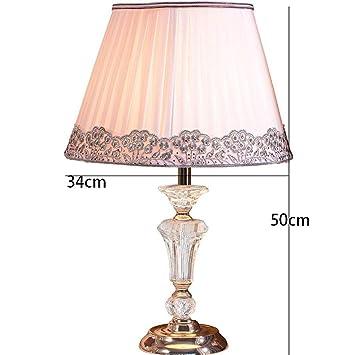 AOLI Lámpara de Mesa Cristal Moderno Europeo Lámpara de Mesa ...