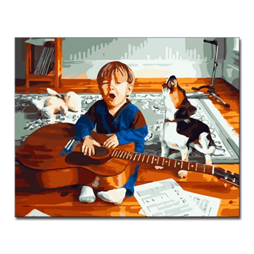 Csyhl Colorear Kit DIY Números Acrílico Bebé Guitarra Perro ...