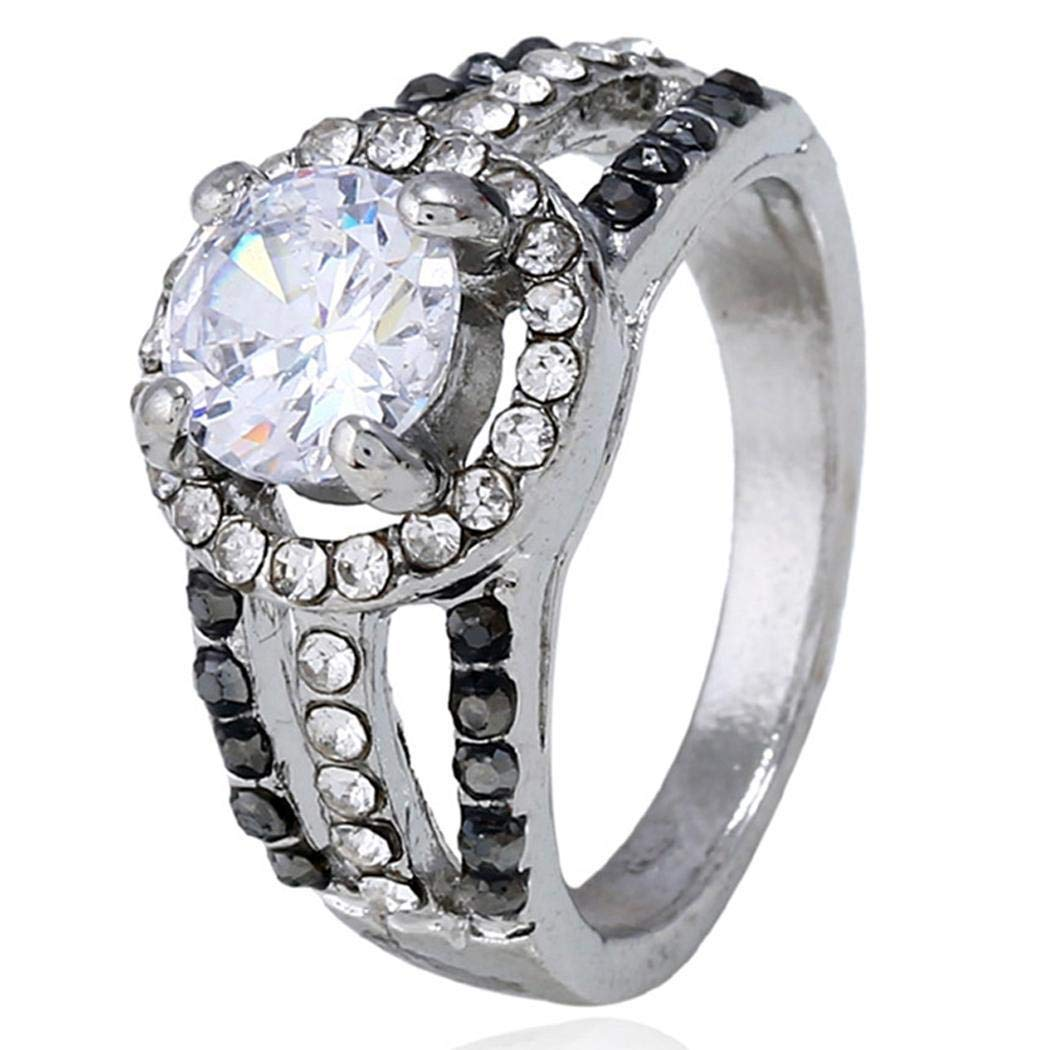 Bulges Women Fashion Rhinestone Geometric Ring Jewelry Accessories