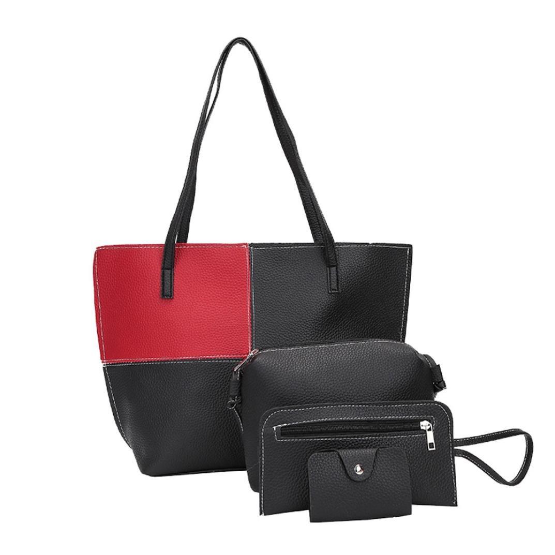 Amazon.com: 4Pcs/Set Bag, FDelinK Womens Satchel Purses and Handbags Shoulder Tote Bags Crossbody Wallets (Blue): Clothing