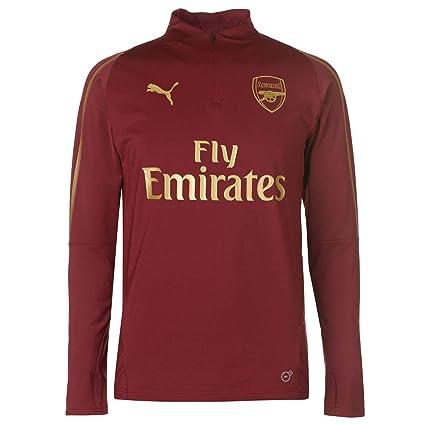 0be2fc93e20 Amazon.com   PUMA 2018-2019 Arsenal Half Zip Training Top (Red ...