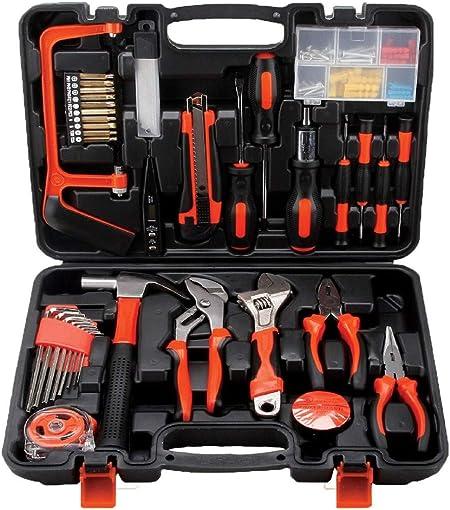 Caja de herramientas 100 en 1, caja de herramientas doméstica, caja de herramientas para electricistas, caja de herramientas para trabajar la madera: Amazon.es: Bricolaje y herramientas