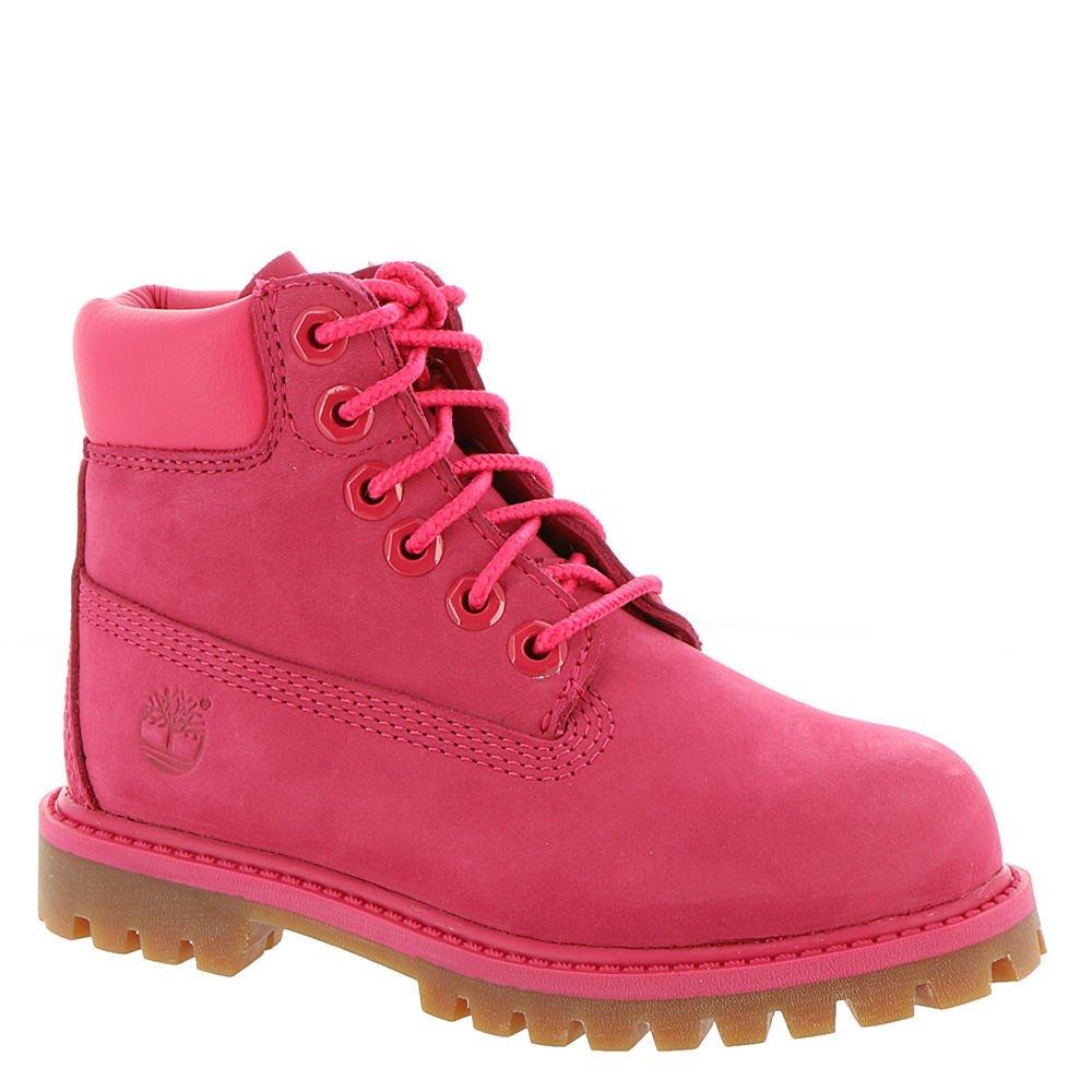 Timberland Kids Girl's 6'' Premium Waterproof Boot (Little Kid) Red Rose Waterbuck 2 M US Little Kid