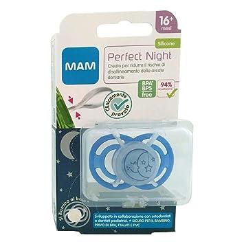 Amazon.com: MAM chupete 16 + Perfect Noche 1 pieza: Health ...