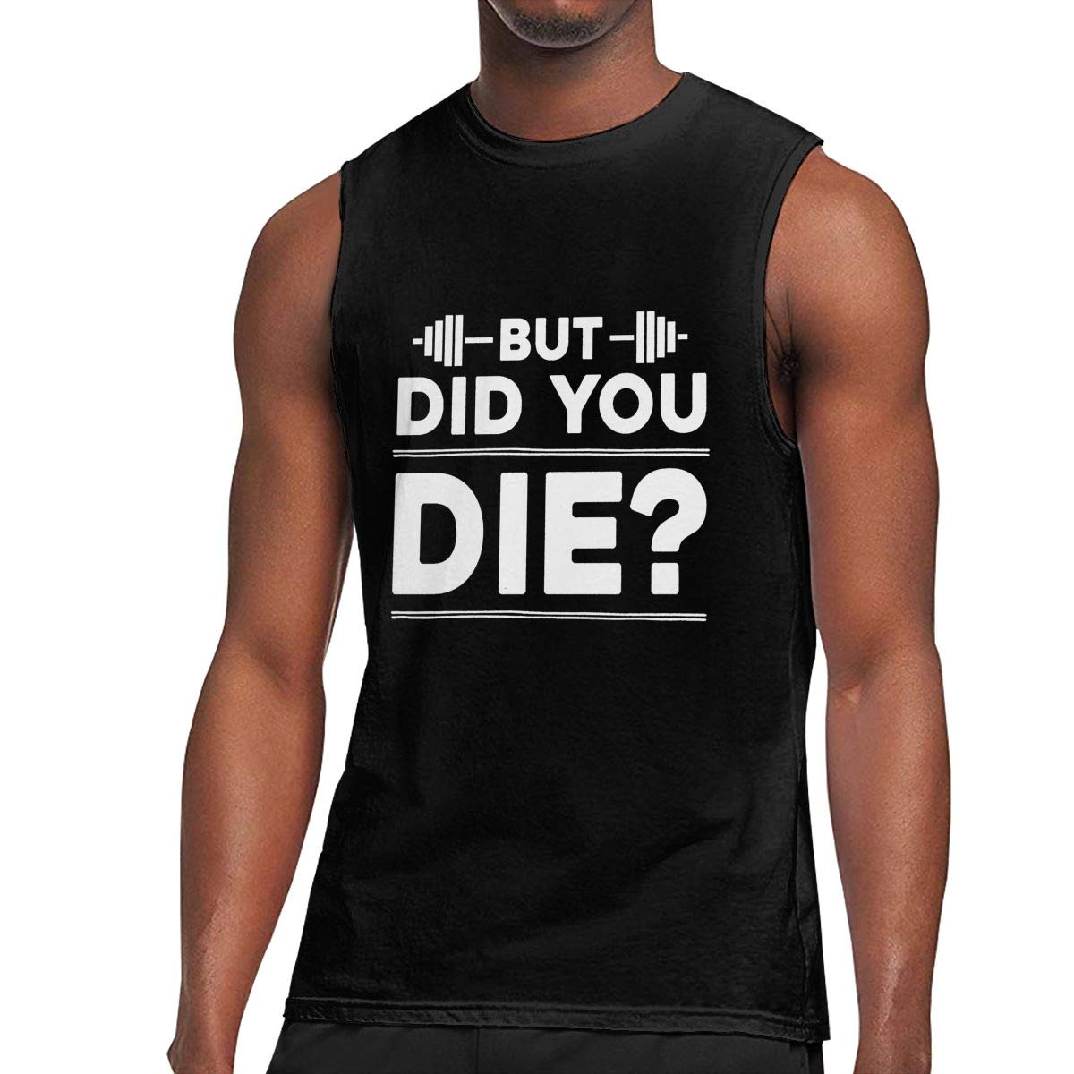 Au68pI@l Mens But Did You Die Sleeveless Shirt Athletic 100/% Cotton Vest for Mens