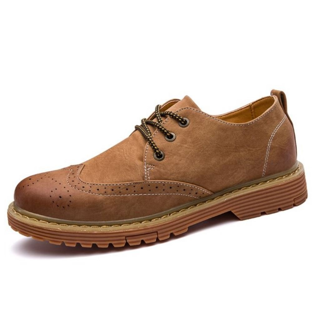RAZAMAZA Herren Schuhe Klassischer Stiefel Chukka Shoes 231 Brown