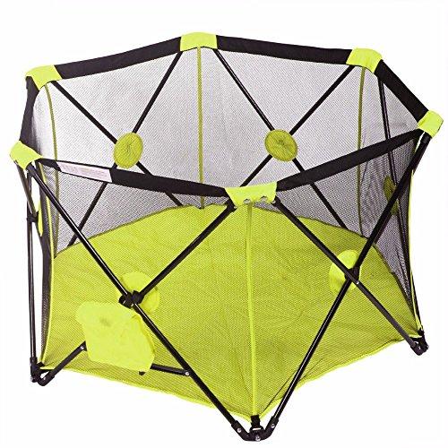 Pop Up Baby Playpen Kid Safety Pop Play Yard Panel Home Indoor Outdoor Hot (GREEN)