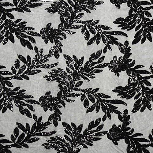 Fabulous Fabrics Tul de Lentejuelas Cóctel Lucy – Negro ...