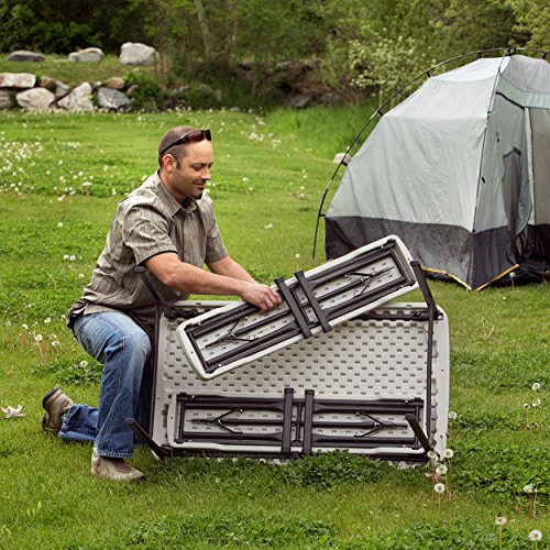 Lifetime 80373 Portable Folding Camping Picnic Table Bench