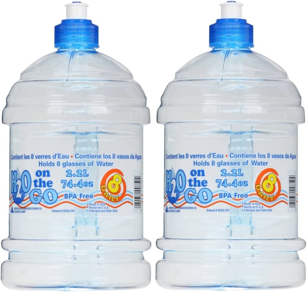 Flecha plástico H2O On the Go 2,2 Liter bebidas botella – 2 Count: Amazon.es: Hogar