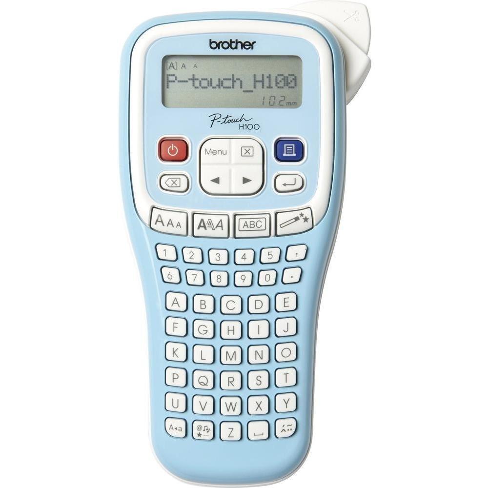 Brother P-Touch PT-H100LB /Étiqueteuse Portable Id/éale pour Professionnels et particuliers Inclus 1 Ruban TZe-12mm Noir//Blanc