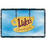 Gilmore Girls Lukes Diner Sign Woven Throw Blanket (White, 48x80)