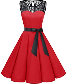 a977c7652344 Bbonlinedress Women's 1950s Vintage Rockabilly Swing Dress Lace Cocktail  Prom Party Dress