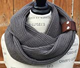 Gray Infinity Knit Scarf By Uptown Girl Co