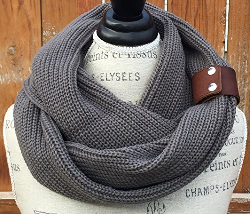 Ivory Braid Pattern Infinity Knit Scarf By Uptown Girl Co