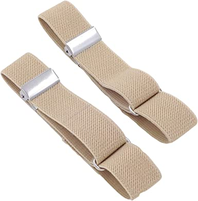 AM/_ CO/_ 1Pair Anti-slip Shirt Sleeve Holders Elastic Garter Armbands Tightening