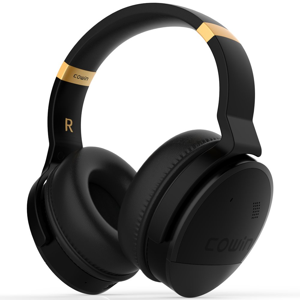 COWIN E8 [Upgraded] Active Noise Cancelling Headphones Bluetooth Headphones with Microphone Deep Bass Wireless Headphones Over Ear, Great Audio for Travel/Work/TV/Computer/Cellphone, Black