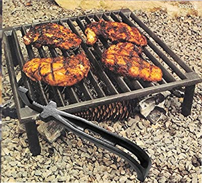 Broilmann Cast Iron Barbecue Universal Grid Lifter, 8 inch Long hot Surfaces handling Lifter Gripper for Most Charcoal Grills and Gas Grills